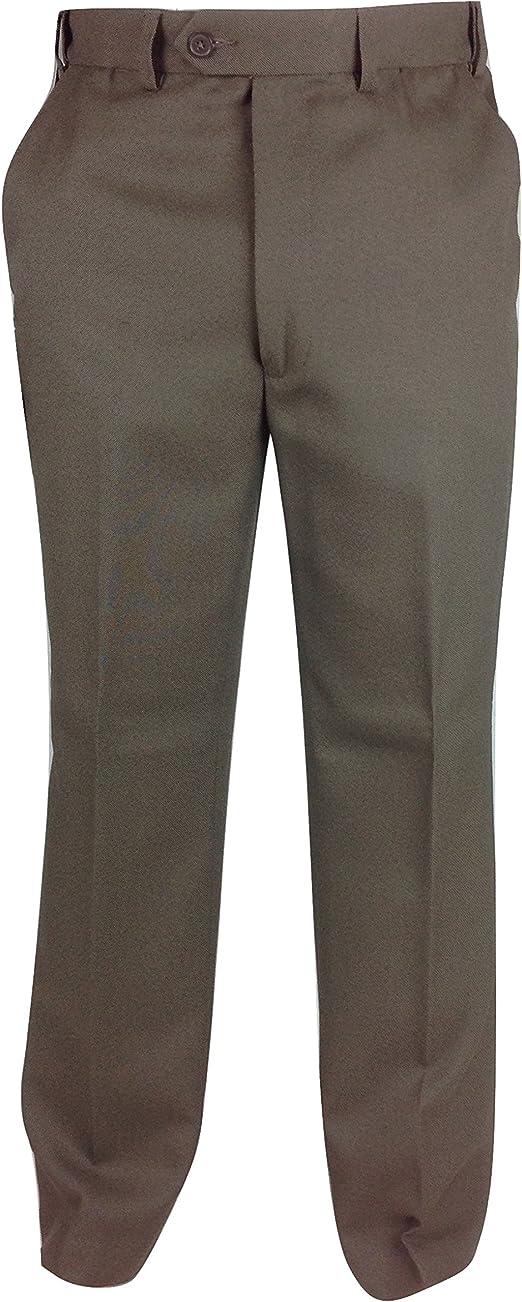 Mens New Carabou Formal Pant Trouser Expandaband Black Grey Navy Taupe Designer