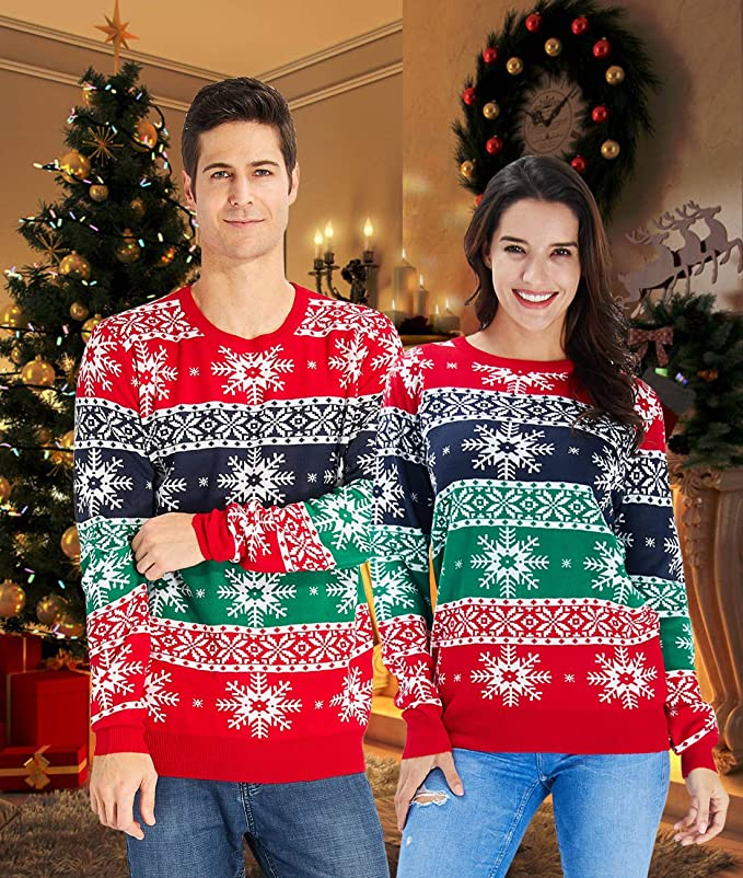 Women Men Ugly Christmas Sweaters Funny Pullover Long Sleeve Best Ugly Christmas Sweaters Ever
