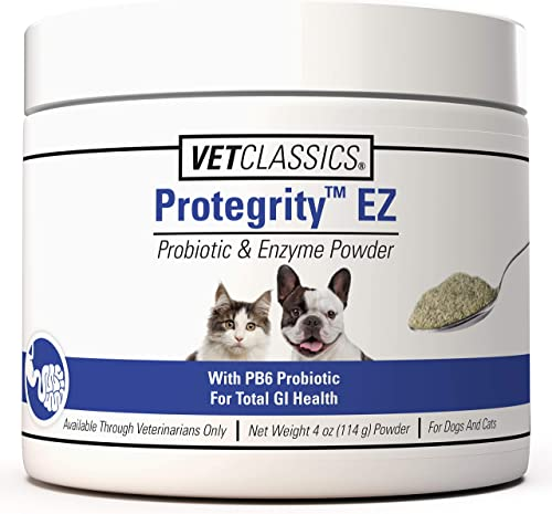 Vet Classics Protegrity EZ Probiotic Enzyme for Dogs Cats, with PB6 for Optimal Stomach Intestinal Balance, Helps Normal Digestive Balance Gastrointestinal Health
