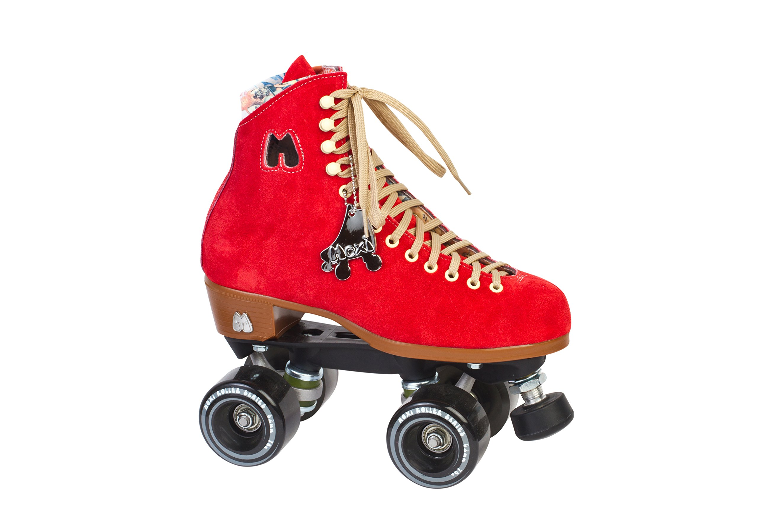 Moxi Lolly Roller Skates Poppy Red Size 4 by Moxi Roller Skates