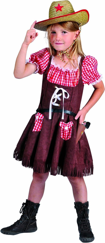 Funny Fashion 402058 - Disfraz de vaquera para niña (talla 128 ...