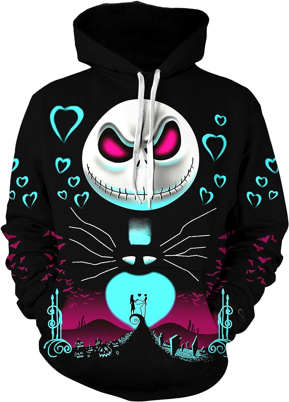 Unisex The Nightmare Before Christmas Hoodie Novelty Sweatshirt for Men and Women