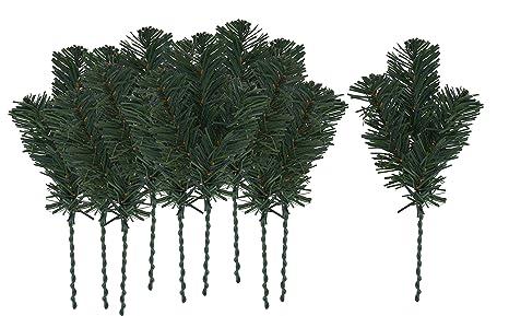 VBS 10er-Pack Kunststoff Tannenzweige 25cm Tanne Kranz Gesteck binden künstlich Weihnachten