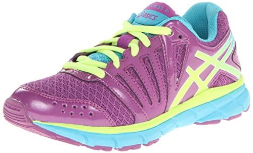 ASICS Gel-Lyte 33 2 GS Running Shoe (Infant/Toddler/Little kid/Big Kid),Purple/Blazing Yellow/Turquoise,6.5 M US Big Kid