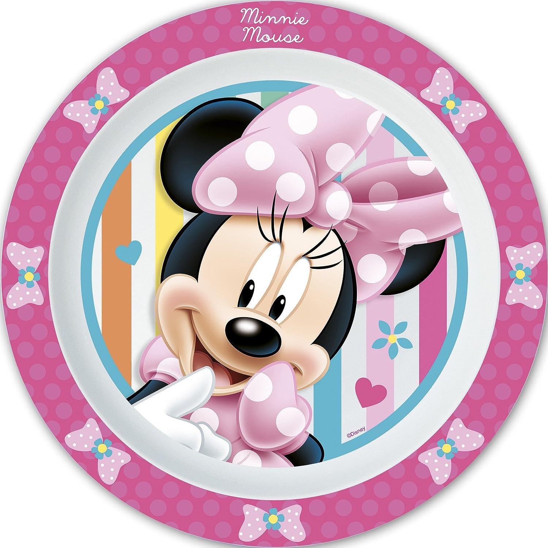 Minnie - Plato de plastico para microondas Kids Dots & Bows (12/48 ...