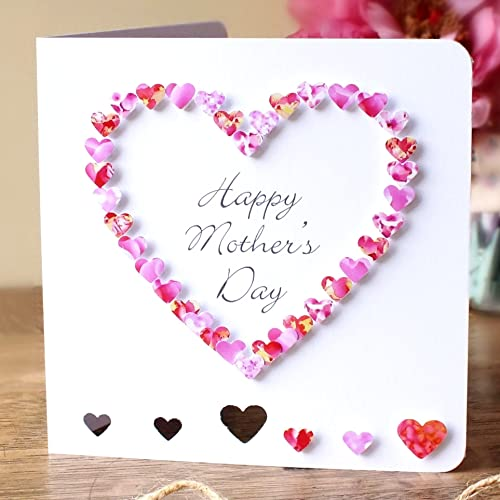 Handmade happy mothers day card pink 3d hand made love heart handmade happy mothers day card pink 3d hand made love heart m4hsunfo