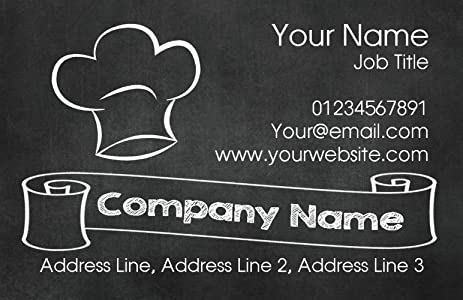 slate chef hat personalized business cards - Personalized Business Cards