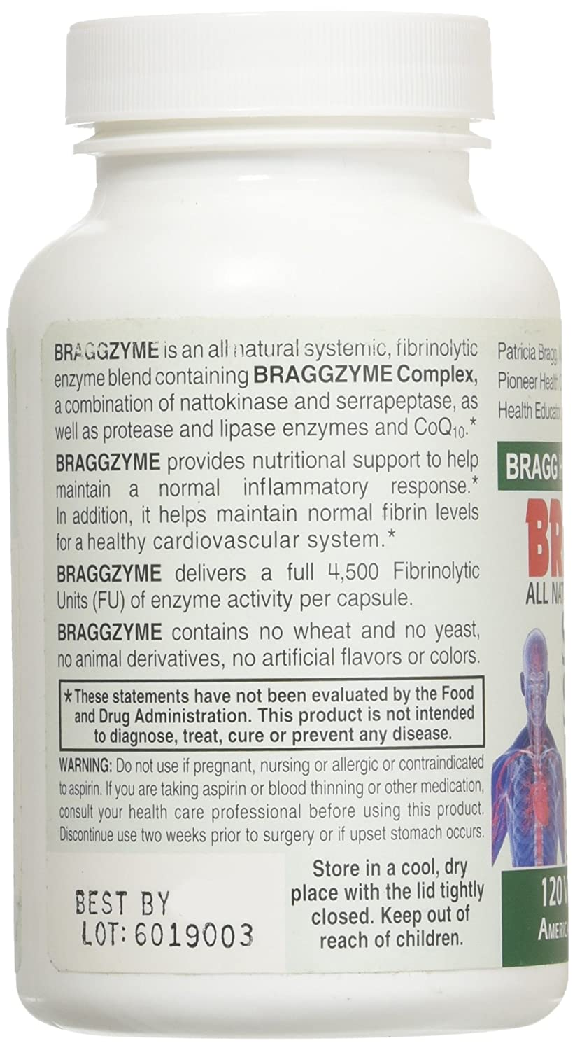 Amazon.com: braggzyme superior sistémico enzimas 120 ...