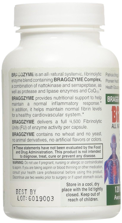 Amazon.com: braggzyme superior sistémico enzimas 120 ...
