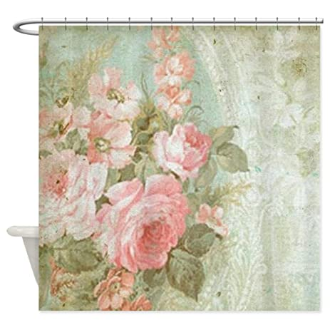 High Quality HANHAOKI Vintage Pink Rose Shower Curtain 60u0026quot ...