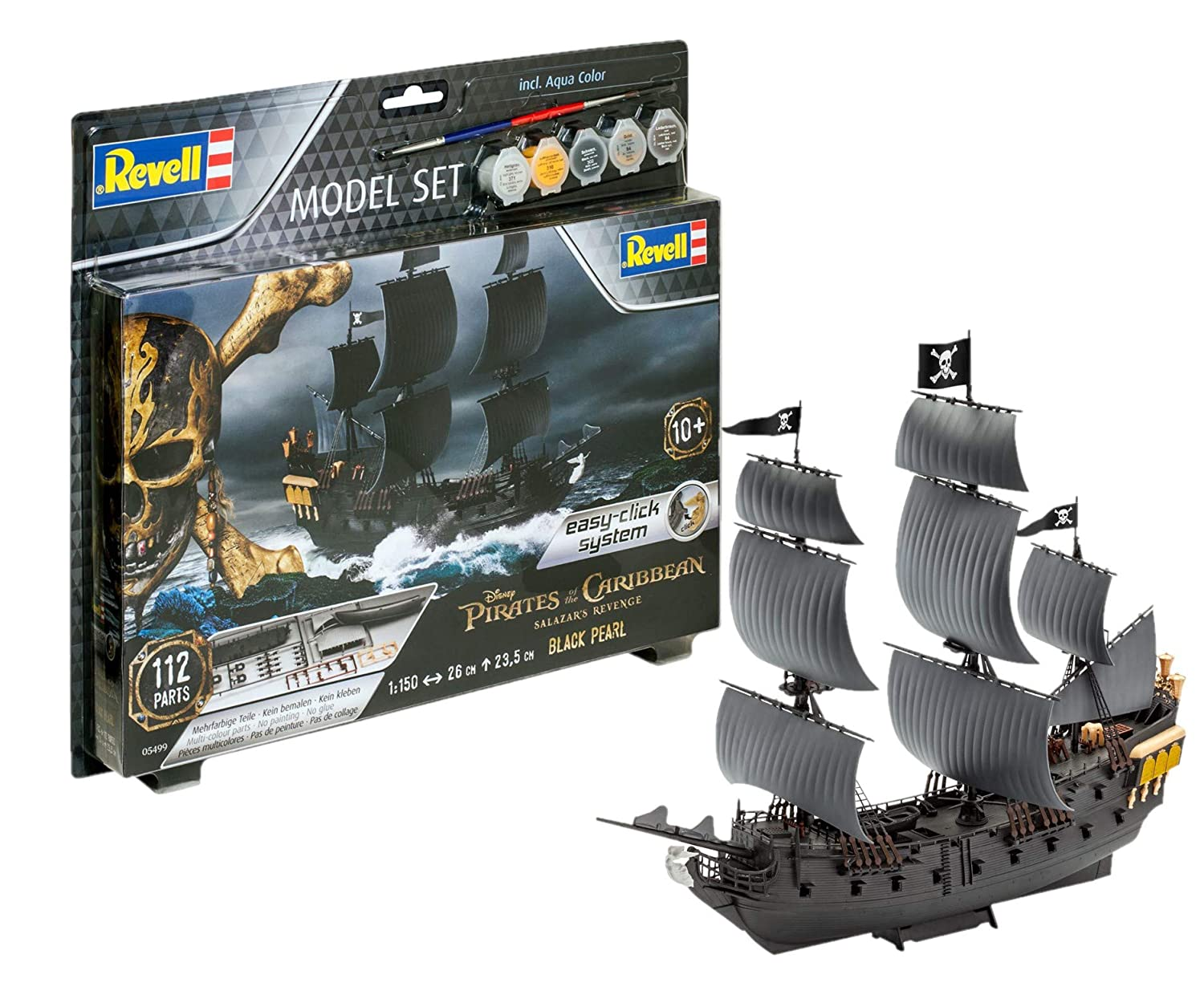 Revell 65499 - Pirates Of The Caribbean Model Set Black Pearl 1:150 Scale, B06X9CJ52R