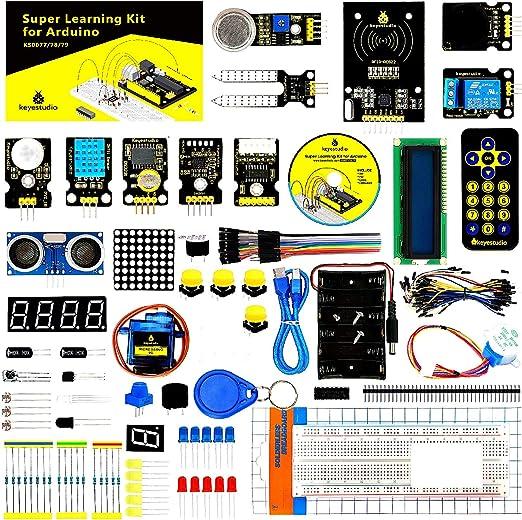 KEYESTUDIO Conjunto Mas Completo y Avanzado de Iniciación Compatible con Arduino IDE con Motor Paso a Paso, Guías Tutorial, Compatible con Arduino IDE para R3 con, MEGA2560, Nano, Raspberry Pi: Amazon.es: Electrónica