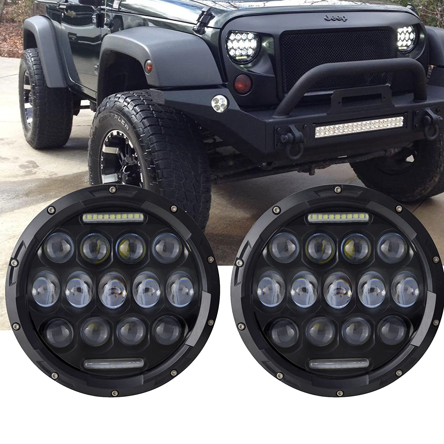 81tSg7yqM9L._SL1500_ turbo pair 7 inch round led headlight with drl hi lo beam for jeep