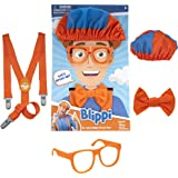 Blippi Costume Roleplay Accessories, Perfect for Halloween, Dress Up and Play Time - Includes Iconic Orange Bow Tie, Suspende