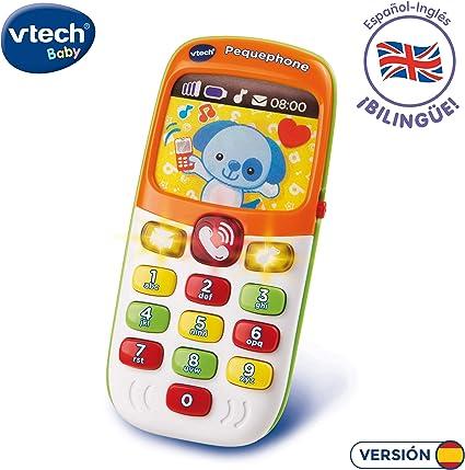 Amazon.es: VTech Pequephone bilingüe, teléfono infantil con luces ...