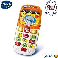 VTech Pequephone bilingüe, teléfono infantil con luces, sonidos