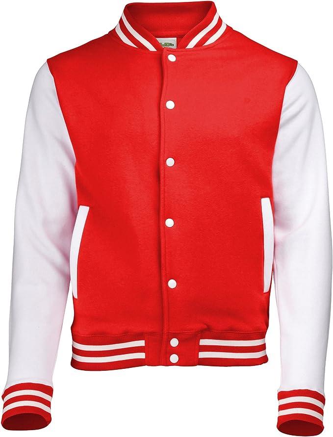 AWDis Kids Contrast College Baseball VARSITY JACKET Soft Fabric Colour Choices