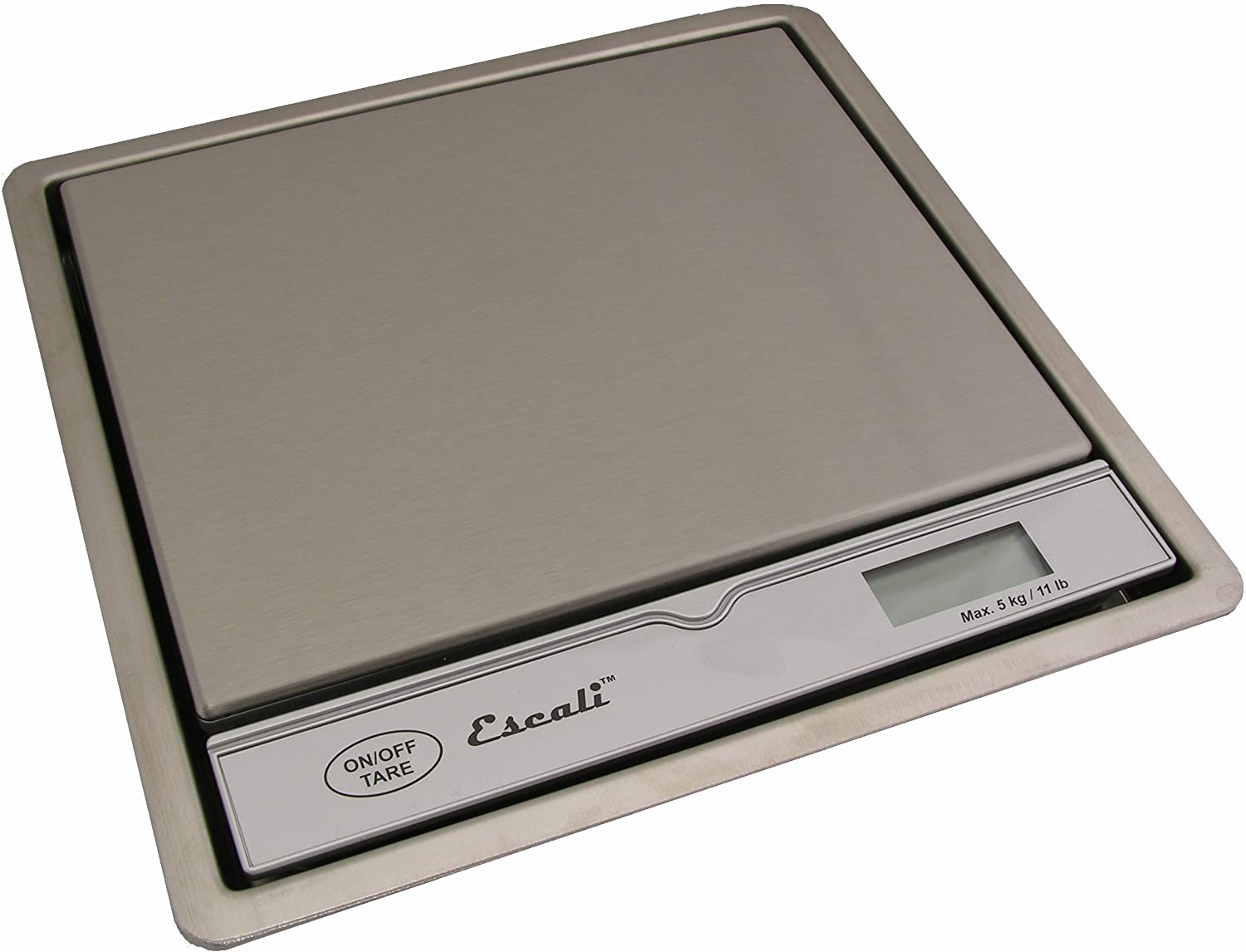 Escali 115B In Surface Mount Commercial KitchenScale, 11lb Cappacity 1 Gram Increments, Digital LCD Display