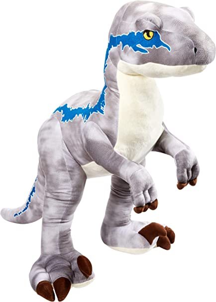 Aurora Monkey Stuffed Animal, Amazon Com Jurassic World Ginormous Velociraptor Blue Toys Games