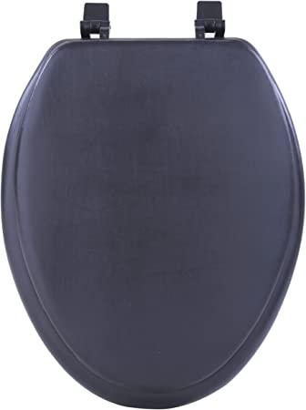Achim Home Furnishings Black Tovyelbk04 19 Inch Fantasia Elongated Toilet Seat Soft Toilet Seat Elongated Padded