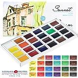 Aquarellfarbe set Hochwertig- Zur Auswahl: 16 oder 24 Farben - Qualität von Sonnet (16er Set) (24 Farben)
