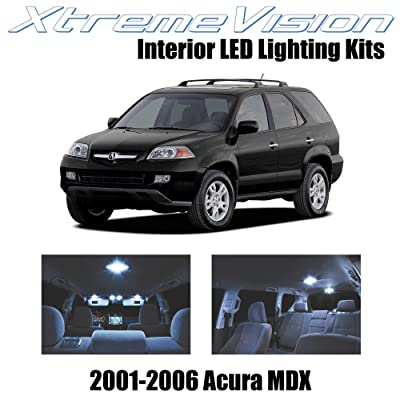 XtremeVision Interior LED for Acura MDX 2001-2006 (14 Pieces) Cool White Interior LED Kit + Installation Tool: Automotive
