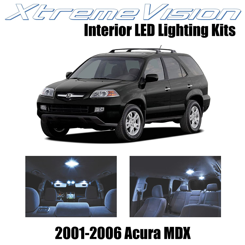 Amazon XtremeVision Acura MDX 2001 2006 14 Pieces Cool White Premium Interior LED Kit Package Installation Tool Automotive