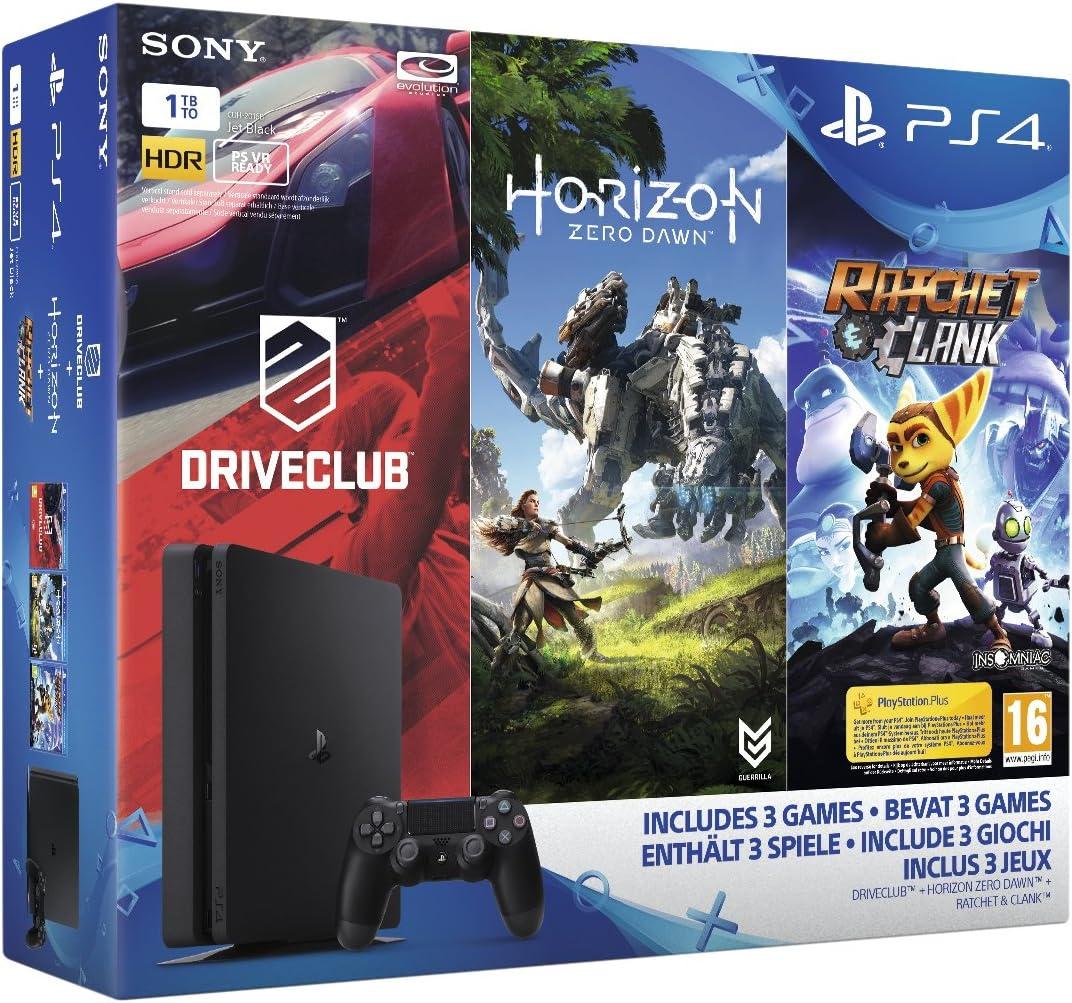 Pack PS4 1 To + Horizon Zero Dawn + Ratchet & Clank + Drive Club ...