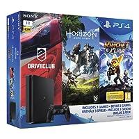 Pack PS4 1 To + Horizon Zero Dawn + Ratchet & Clank + Drive Club