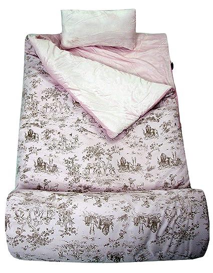 SOHO colección infantil, rosa y marrón francés Toille saco de dormir