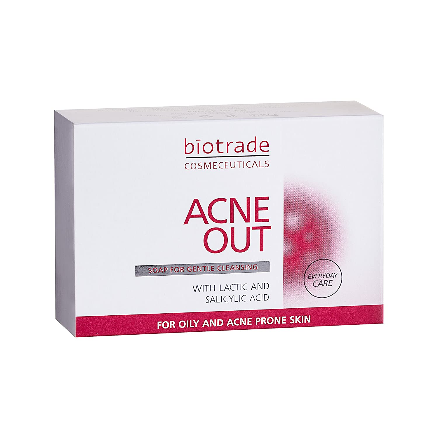 Acne Out Soap Bar 100g For Oily Skin with Pimples, Removes Blackheads and Impurities, Tightens Pores by Biotrade