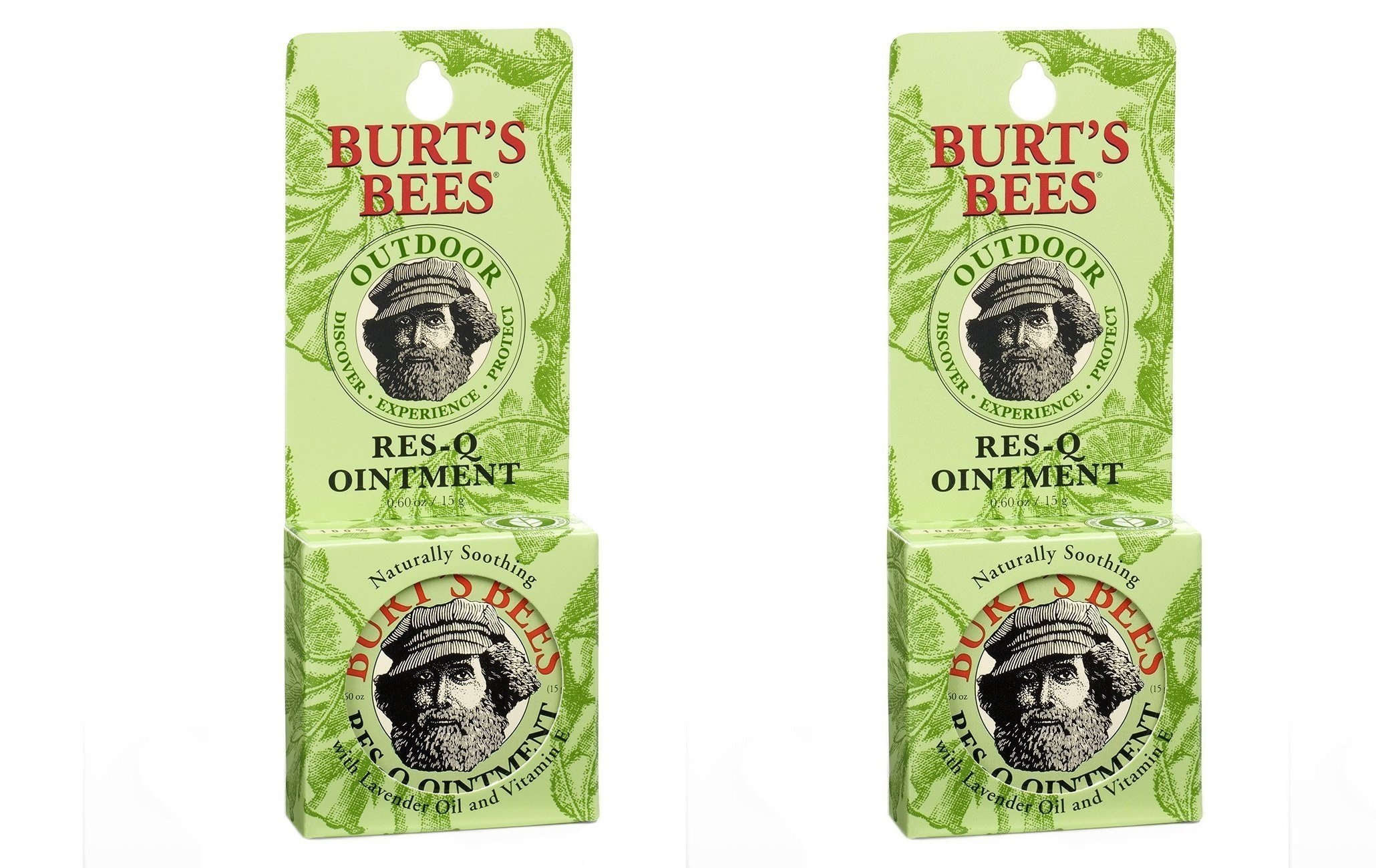 Burts Bees 100% Natural aNKGxl Res-Q Ointment, 0.6 Ounces, 3 Count (Pack of 2)