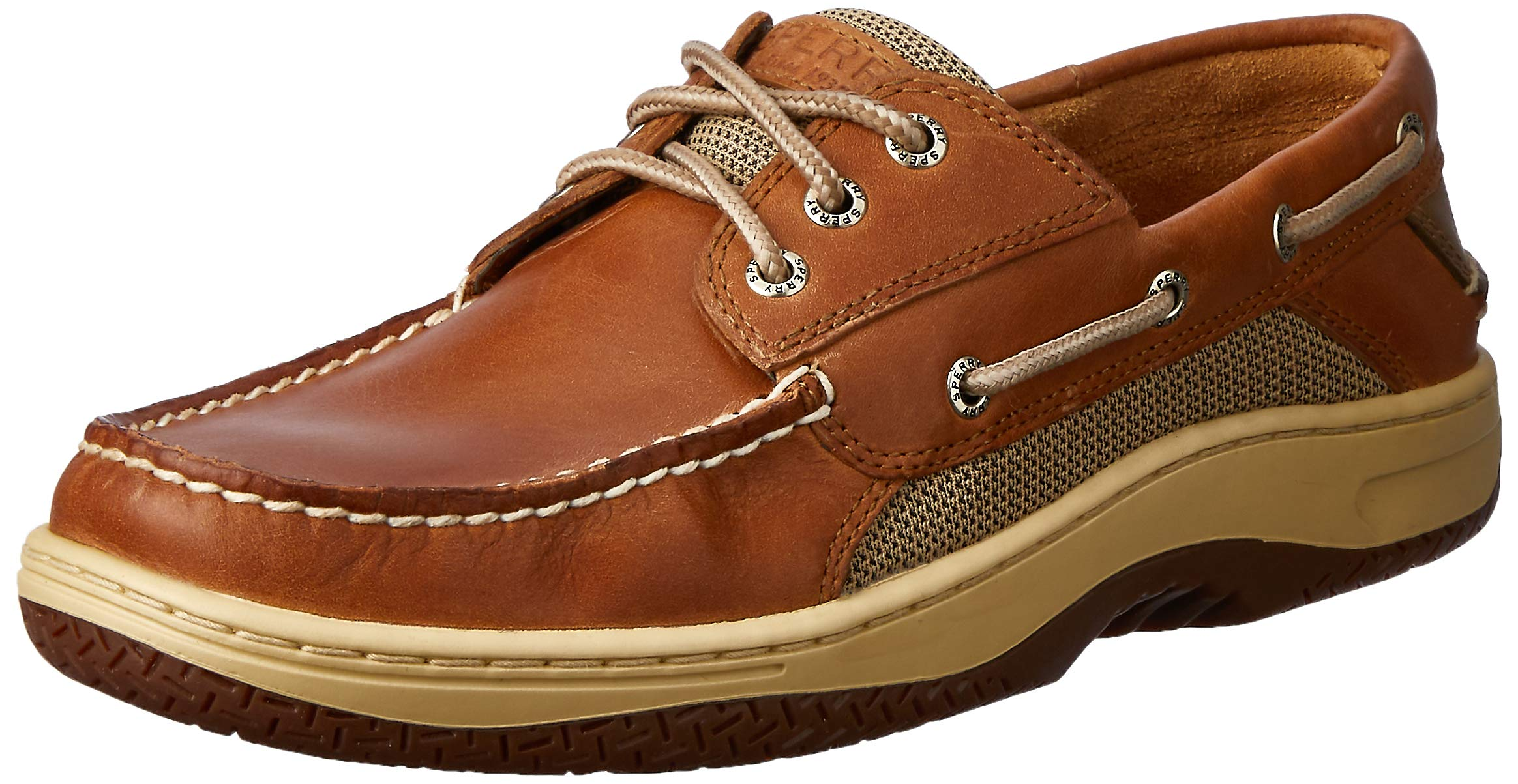 Sperry Mens Billfish 3-Eye Boat Shoe, Dark Tan, 11.5 by SPERRY