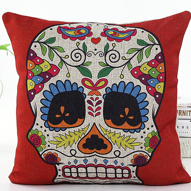 Amazon L&J ART 4 PCS 18 Retro Colorful Floral Mexican Day