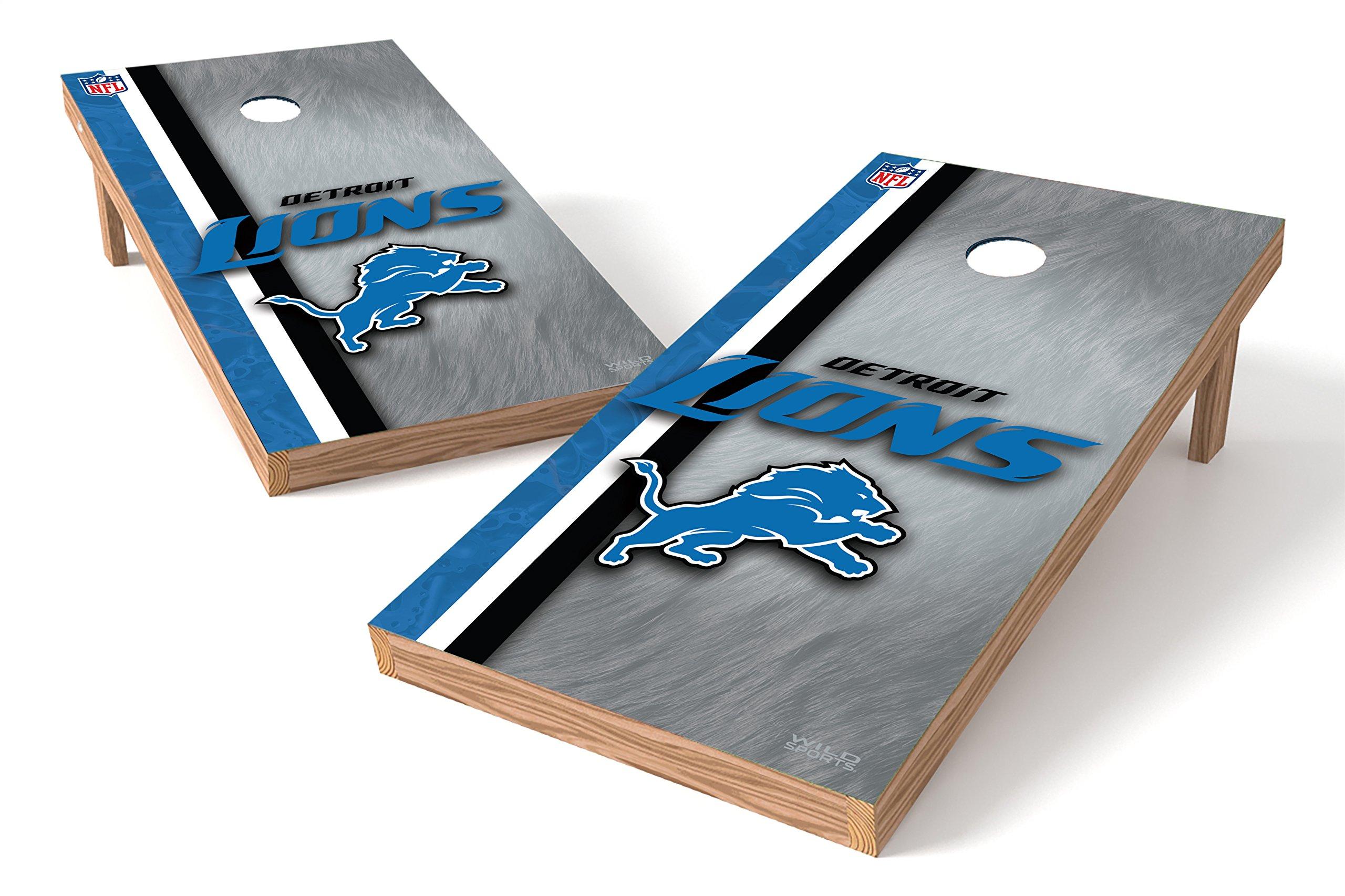 Wild Sports NFL Detroit Lions 2' x 4' Authentic Cornhole Game Set