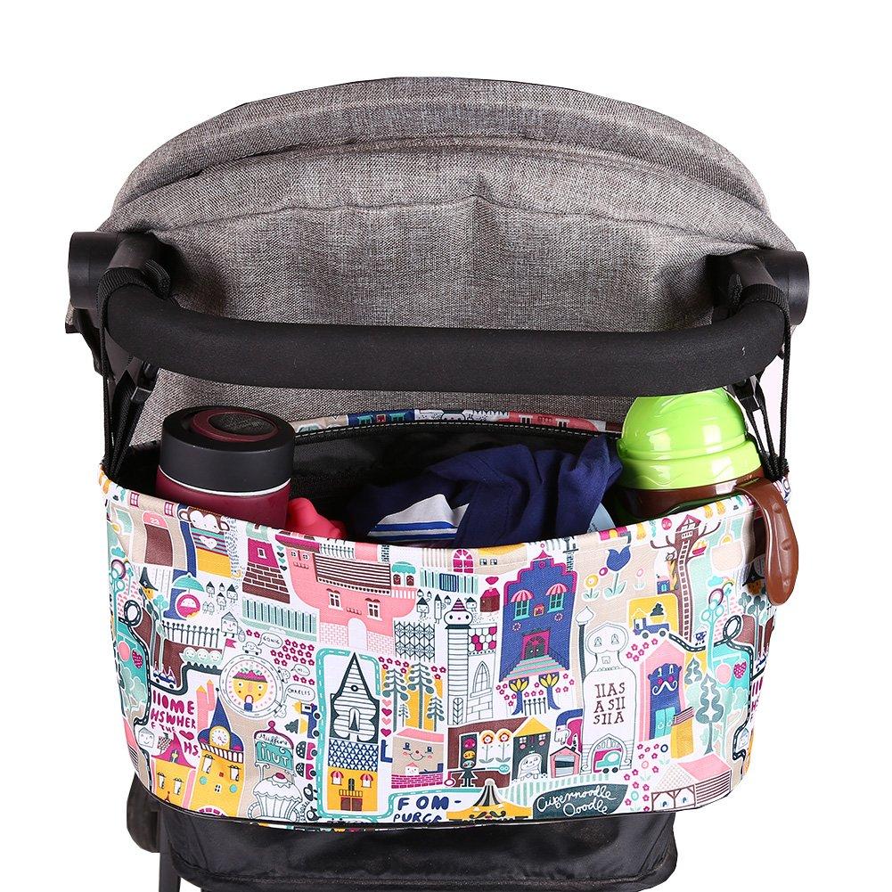 Diaper Bag Solid Color Handle Hanging Pallets Bag Blaward Baby Buggy Organiser Multifunctional//Cartoon Baby Stroller Organizer Storage Bag Waterproof//Pram Pushchair Cup