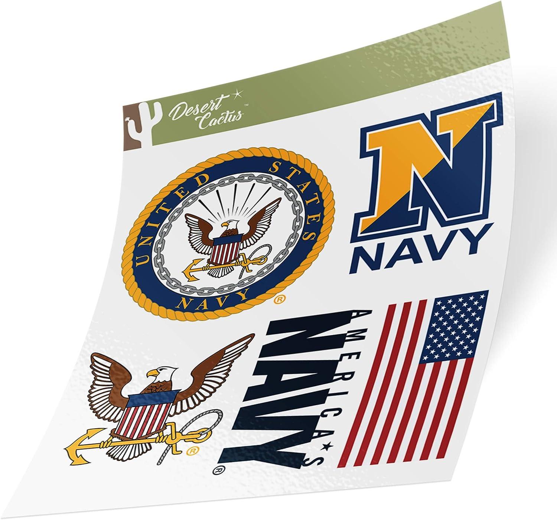 US Navy Emblem Logo Sticker Vinyl Decal Laptop Water Bottle Car Scrapbook Officially Licensed United States (Sheet - Standard)