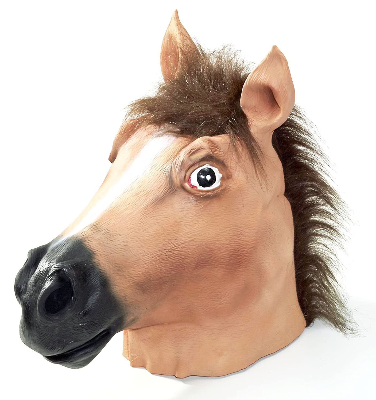 Amazon.com: Forum Novelties Brown Horse Deluxe Latex Farm Animal ...