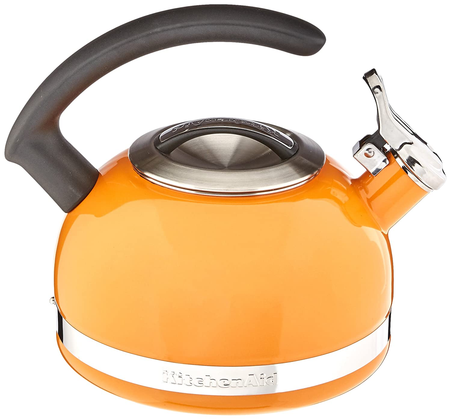 amazoncom kitchenaid ktencbdo quart kettle with c handle  - amazoncom kitchenaid ktencbdo quart kettle with c handle and trimband  mandarin orange kitchen  dining