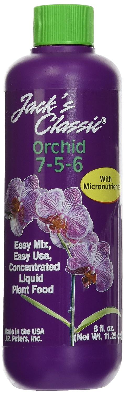 J R Peters Inc 50708 Jacks Classic Liquid Orchid Food, 8-Ounce BFG Supply