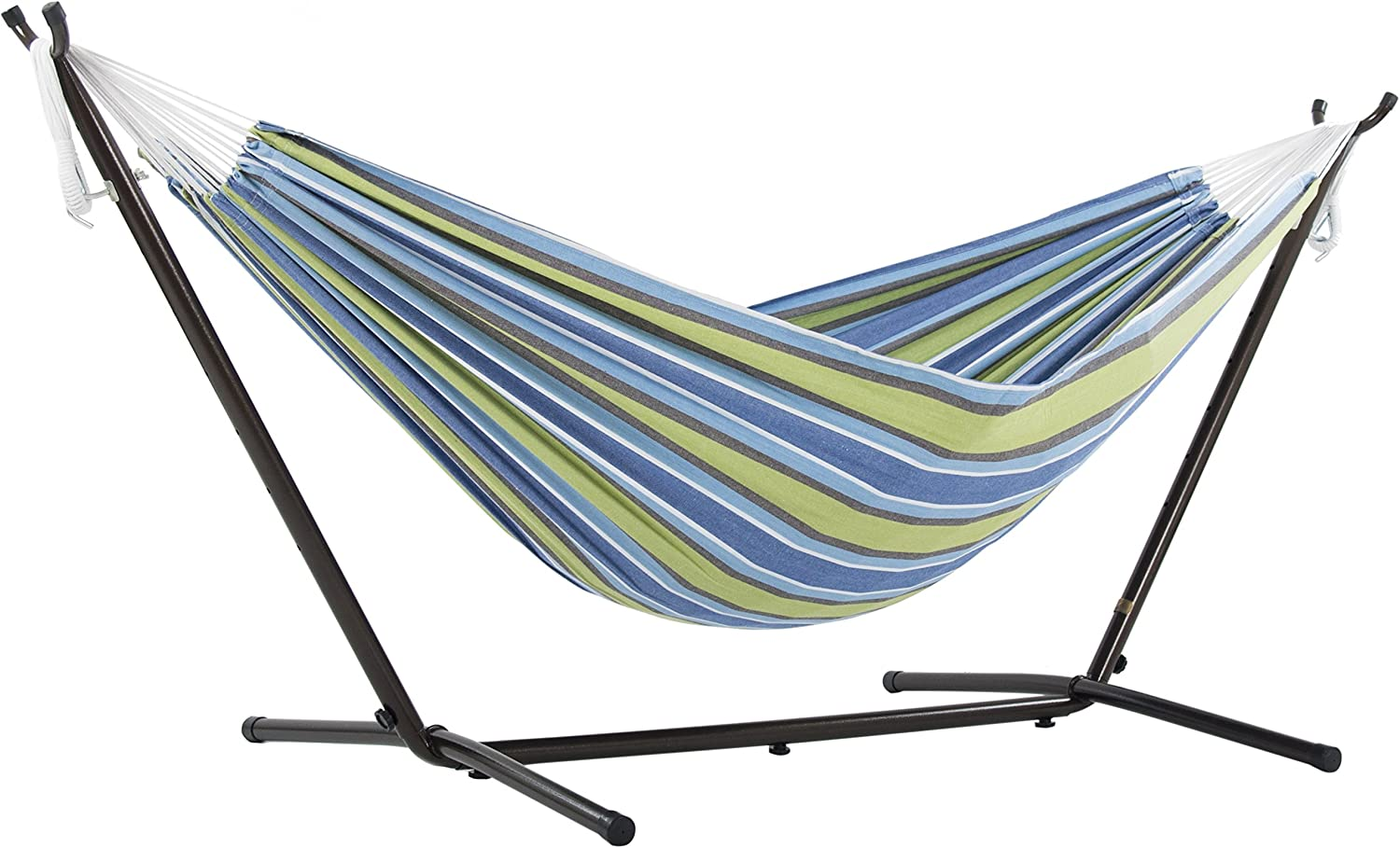 Vivere Double Hammock & 9' Steel Stand - Oasis