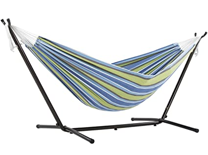 double hammock with stand Amazon.: Vivere Double Hammock with Space Saving Steel Stand  double hammock with stand