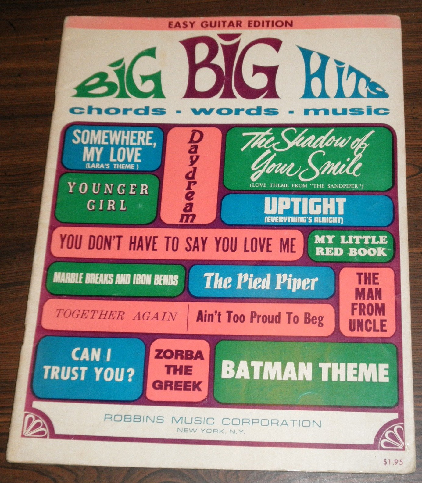 Amazon Big Big Hits Chords Words Music Easy Guitar Edition
