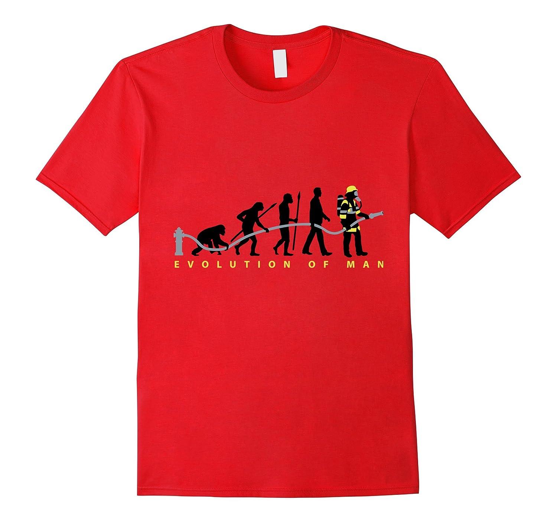 Evolution Of Man Firefighter T shirt-BN