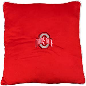 Pets First Collegiate Pet Accessories, Dog Pillow, Ohio State Buckeyes, 16 x 16 x 3 inches