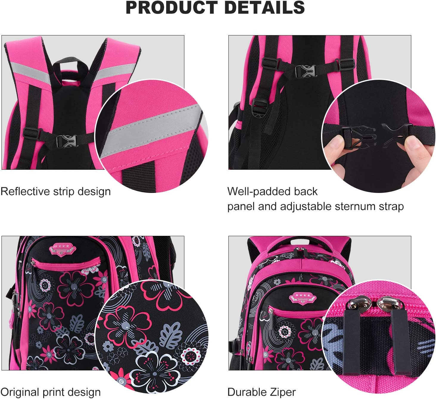 Rolling Backpack for Girls, Fanspack Wheeled Backpack for Girls Backpack with Wheels Rolling Backpack for School