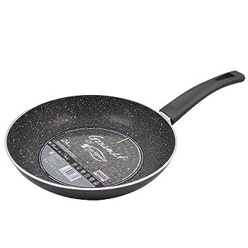 San Ignacio Gourmet-Sartén De 28 Cms. En Aluminio Prensado, Gris Oscuro, 28 cm: Amazon.es: Hogar