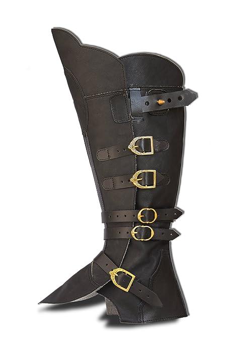 CP-Schuhe Larp Polainas Botas Sirven pirata de mosquetero Medieval Carnaval: Amazon.es: Zapatos y complementos