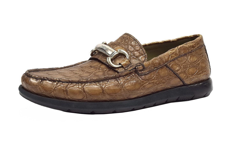 Men's Alligator Slip On Loafer Shoes US Sz 9.5 Brown 280629AT