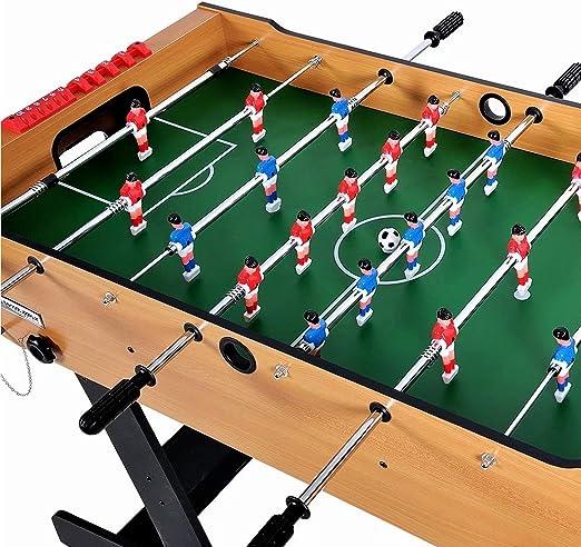Mesa plegable de fútbol 4 pies 48 * 24 * 34 Juego de futbolín Juego de mesa de madera Competencia clasificada de estilo ábaco y sistema de devolución de bola interna MDF